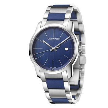 Early Bird Specials Get These Deals First - 679-324 Calvin Klein Men's 43mm City Swiss Made Quartz Date Stainless Steel & Silicone Watch - 679-324