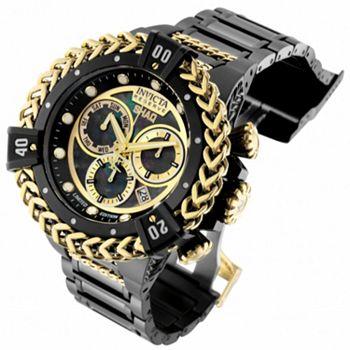 679-487 Invicta Bolt Herc Reserve Shaq 56mm Swiss Quartz Chronograph Bracelet Watch w 8-Slot Dive Case - 679-487