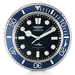 "Invicta 14"" Pro Diver Master of the Oceans Quartz Wall Clock"