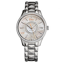 Christian Dior Women's Montaigne Swiss Made Automatic Diamond Accented MOP Bracelet Watch