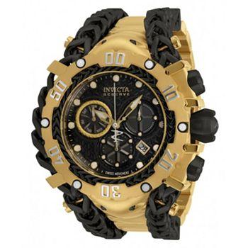 682-136 Invicta Reserve Men's 61mm Gladiator Swiss Quartz Chronograph Watch w 15-Slot Dive Case - 682-136