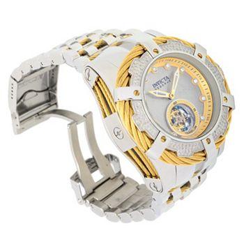Invicta Holy Grail Find Your Next Coveted Piece - 682-175 Invicta 52mm Grand Bolt Zeus Mech Tourbillon 0.73ctw Diamond Meteorite Dial Watch w 8-Slot DC - 682-175