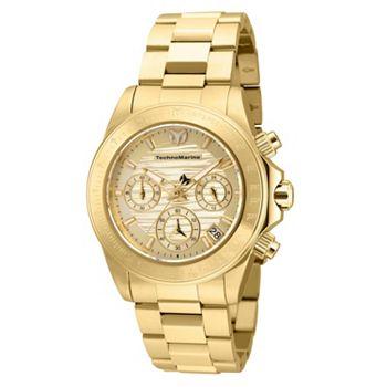 682-310 TechnoMarine Women's Manta Ray Quartz Chronograph Stainless Steel Bracelet Watch - 682-310