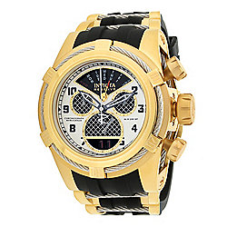 "Invicta Reserve 52mm Bolt Zeus ""Twisted Metal"" Swiss Quartz Chronograph Watch"
