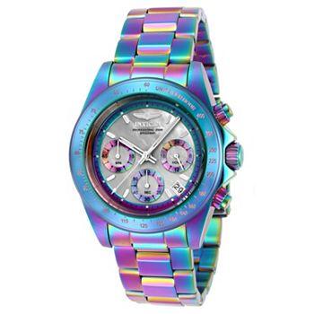 682-475 Invicta 40mm Speedway Iridescent Quartz Chronograph Stainless Steel Bracelet Watch - 682-475