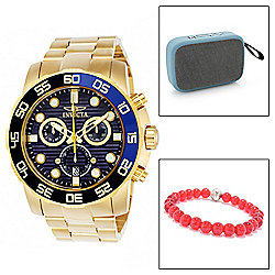 Invicta Men's 50mm Pro Diver Scuba Quartz Chronograph Watch w/ Speaker & Bracelet