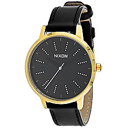 Nixon Women's Quartz Black Leather Strap Watch