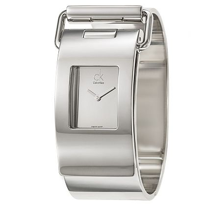 Web Exclusive Finds Items You Won't See On TV - 683-206 Calvin Klein Women's Pump Swiss Made Quartz 6.5 Stainless Steel Bangle Watch