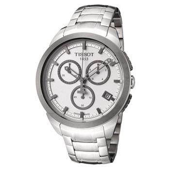 National Brands Up to 90% Off Your Favorites - 684-590 Tissot Men's Titanium 43mm Swiss Quartz Chrono Titianium Bracelet Watch - 684-590