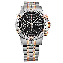 Revue Thommen Men's 44mm Airspeed Swiss Made Automatic Chronograph Stainless Steel Bracelet Watch