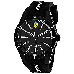 Ferrari Men's 44mm Quartz Rubber Strap Watch