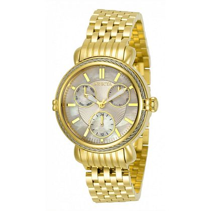 Web Exclusive Finds Items You Won't See On TV - 687-844 Invicta Women's Wildflower Quartz MOP Dial Gold-tone Stainless Steel Bracelet Watch w Extra Strap