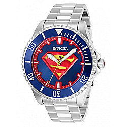 Invicta DC Comics 47mm Superman Automatic Silver-tone Stainless Steel Bracelet Watch