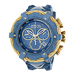 Invicta Reserve Men's 52mm Thunderbolt Blue Label Swiss Quartz Chronograph Strap Watch