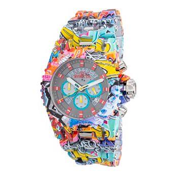 688-065 Invicta Men's 50mm Chaos Graffiti Quartz Chronograph Hydroplated Bracelet Watch - 688-065