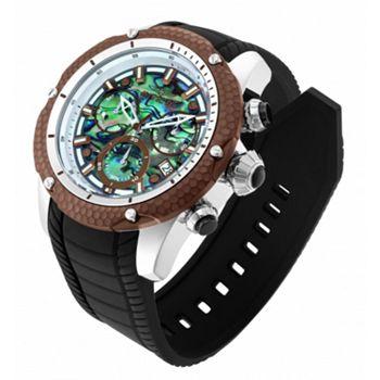 Once Only's Tune in at 6pm & 7pm ET - 688-382 Invicta Men's 52mm Venom Python Swiss Quartz Chronograph Abalone Strap Watch w Helmet - 688-382