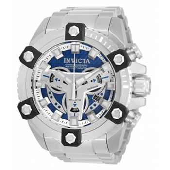 Invicta Big Dial Designs Ft. Tactical Collection - 688-470 Invicta Men's 56mm Grand Octane Quartz Chronograph Blue Dial Silver-tone Bracelet Watch - 688-470