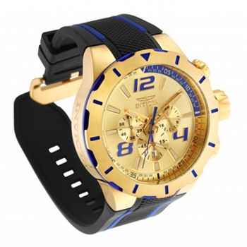 Big Dials Tune in at 5pm ET - 692-374 Invicta Men's 53mm S1 Rally Quartz Chronograph Silicone Strap Watch w Helmet - 692-374