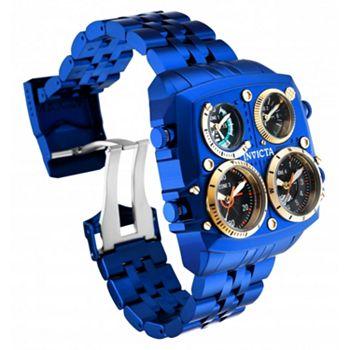 692-382 Invicta Men's 50mm Aviator Zulu Quartz Quad Time Stainless Steel Bracelet Watch - 692-382