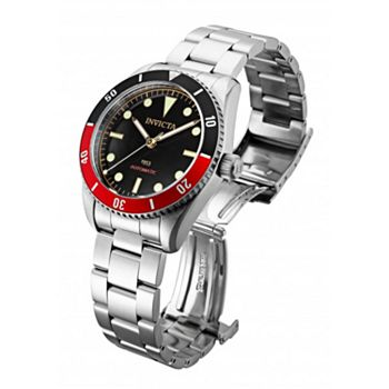692-492 Invicta 40mm Pro Diver Automatic Black & Red Bezel Stainless Steel Bracelet Watch - 692-492