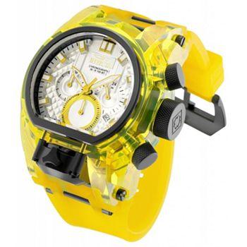 693-706 Invicta Men's 52mm Bolt Zeus Magnum Quartz Chronograph Dual Movement Strap Watch - 693-706