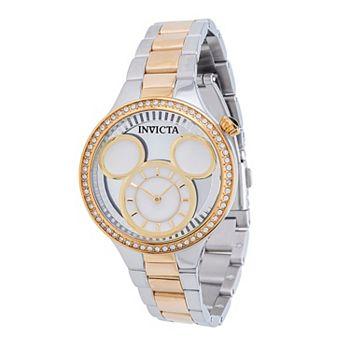 696-741 Invicta Disney®: Women's Limited Edition Quartz Crystal Accented MOP Bracelet Watch - 696-741