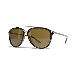 Versace 58mm Brown Lens Aviator Frame Sunglasses w/ Case