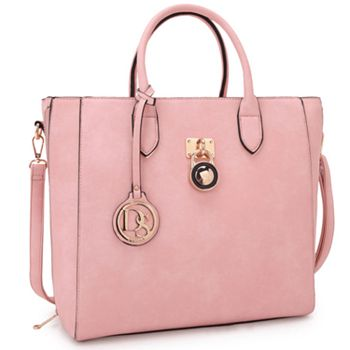 6 ValuePay® Payments On Fashion Favorites - 737-434 Dasein Elegant Faux Leather Emblem Tote - 737-434