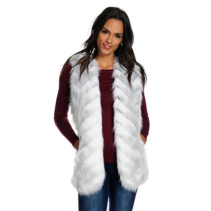 Lowest Prices Ever New Items Added Daily  738-460 Donna Salyers' Fabulous-Furs Faux Fur 2-Pocket Satin Lined Open Front Vest