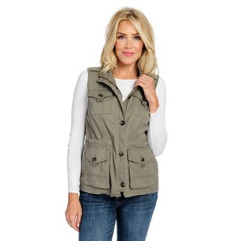 Top-Rated OSO Casuals As Chosen by You - 738-856 OSO Casuals® Woven Twill 4-Pocket Zip Front Military Vest - 738-856