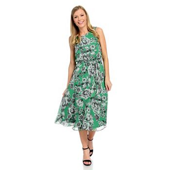 Skirts & Dresses Sale Summer Style Blowout - 741-150 Kate & Mallory® Printed Woven Sleeveless Keyhole Back Tie-Waist Dress - 741-150