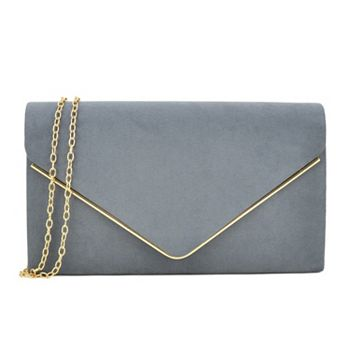Clutches  741-403 Dasein Velvety Clutch w Removable Chain Strap - 741-403