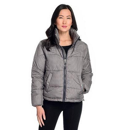 Lowest Prices Ever New Items Added Daily - 743-194 CoffeeShop Quilted Woven Stand Collar 3-Pocket Zip Front Puffer Jacket