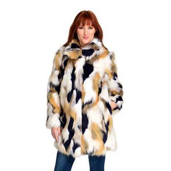 Fashion Steals - 743-447 Donna Salyers' Fabulous-Furs VIP 2-Pocket Hook Front Stroller Coat - 743-447
