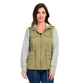 743-941 OSO Casuals® Knit & Woven Drawstring Waist 4-Pocket Hooded Anorak Jacket - 743-941