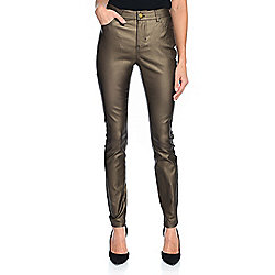mōd x Metallic Faux Leather 5-Pocket Pull-on Pants