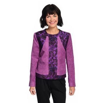 Jackets Ft. Indigo Moon Layer Up in Style - 744-732 Indigo Moon Chenille & Jacquard Long Sleeve Tapestry Jacket - 744-732
