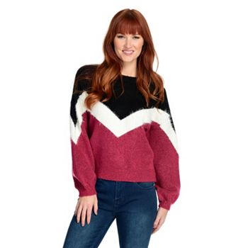 Best of the Best Ft. Our Top Exclusive Brands - 745-112 OSO Casuals® Knit Long Sleeve Crew Neck V-Stripe Sweater - 745-112