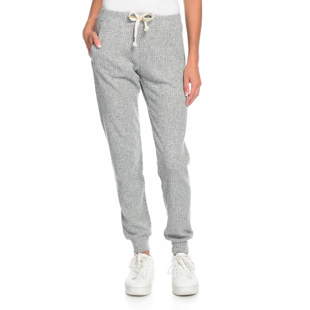 THEO /& SPENCE Super Soft Brushed Knit Joggers w// Pockets $58 XS White S -