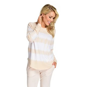 Deals Over 30% Off Including New Markdowns - 745-940 Theo & Spence Brushed Hacci Knit Long Sleeve Yummy Tie Dye Thumb Hole Sweater - 745-940