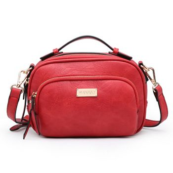 Gifts Under $20 Budget-Friendly Shopping - 747-472 Dasein Faux Leather Zippered Multi Compartment All-in-One Crossbody Bag - 747-472