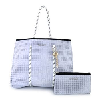May Fashion Day Starts at 9am ET 748-930 MAYAMAR Sport Perforated Neoprene Tote Bag w Zip Pouch & Keychain - 748-930