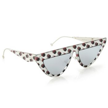 Deals Over 50% Off Stock Up on Savings - 749-440 Fendi 53mm Mirrored Lens Geometric Frame Sunglasses w Case - 749-440