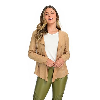 Wake Up in Style Gifts Tune in 8AM ET -  749-907 mōd x Faux Suede Shimmer Cascade Front Jacket