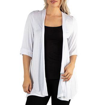 24seven Comfort Apparel Look Good, Feel Good - 750-504 24seven Comfort Apparel 34 Sleeve Open Front Cardigan - 750-504