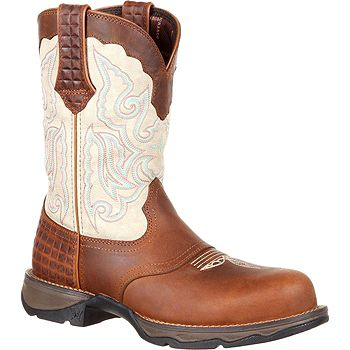 New Web Exclusives Shop Our Freshest Finds - 751-291 Lady Rebel by Durango Leather Composite Toe Saddle Western-Style Boots - 751-291