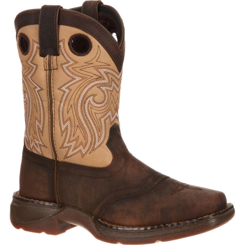 LIL/' DURANGO® Big Kid Camo Saddle Western Boot