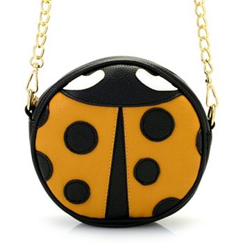 751-528 Mellow World Ladybug Faux Leather Crossbody Bag w Removable Strap - 751-528