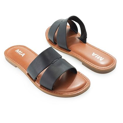 752-348 MIA Ricky Faux Leather Slip-on Sandals