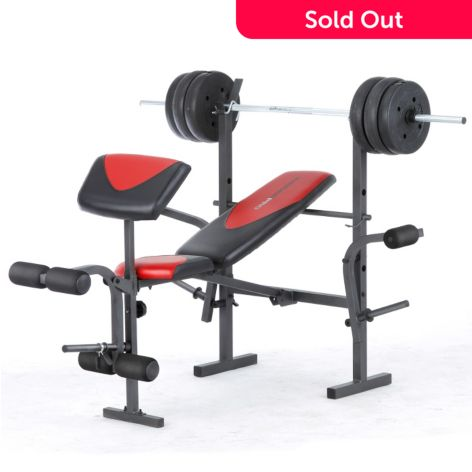 Weider Pro 256 In Home Gym For Beginners W 80 Lbs Weight Set Shophq
